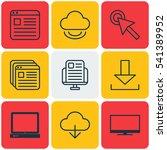 set of 9 internet icons.... | Shutterstock .eps vector #541389952