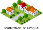 isometric 3d icon house home.... | Shutterstock .eps vector #541390015
