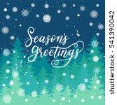 season's greetings card for new ... | Shutterstock .eps vector #541390042