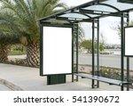 blank white mockup of bus stop... | Shutterstock . vector #541390672