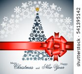 christmas tree from beautiful... | Shutterstock . vector #541395142