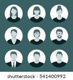 avatar profile icon set... | Shutterstock .eps vector #541400992
