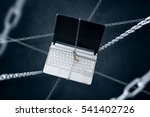 chained laptop. conception of... | Shutterstock . vector #541402726