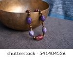Bohemian Violet  Beads Necklac...