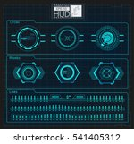 hud background outer space.... | Shutterstock .eps vector #541405312
