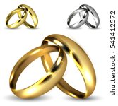 set of realistic shiny gold and ... | Shutterstock .eps vector #541412572
