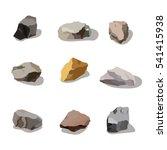 rocks and stones mountain set....