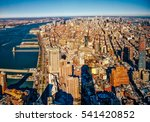 new york city from above.... | Shutterstock . vector #541420852