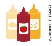 mayonnaise ketchup mustard... | Shutterstock .eps vector #541422628