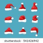 santa hat vector symbol... | Shutterstock .eps vector #541426942