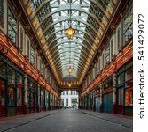 Small photo of LONDON, UK - 8 MARCH 2016: Leadenhall Market, London. Originally a poultry market, the landmark location now houses bars and restaurants in the affluent financial district of the City of London.