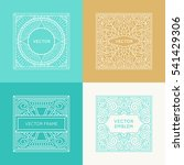 vector set of square logos and... | Shutterstock .eps vector #541429306