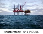 special purpose ship and oil... | Shutterstock . vector #541440256