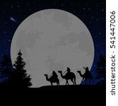 three wise men or kings in... | Shutterstock .eps vector #541447006