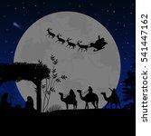 Christmas Nativity Scene With...