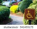 Handicap Sign At A Park