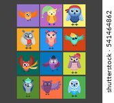 cartoon owl vector isolated | Shutterstock .eps vector #541464862