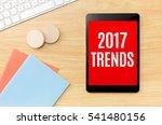 top view of 2017 trends on... | Shutterstock . vector #541480156