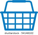 shopping basket icon   vector... | Shutterstock .eps vector #54148102