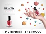 delicate hand with colorful... | Shutterstock .eps vector #541489006
