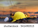 safety in refinery concept  ... | Shutterstock . vector #541490515