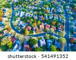 aerial view over modern suburb... | Shutterstock . vector #541491352