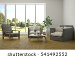 white room with armchair and... | Shutterstock . vector #541492552