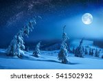 winter valley covered with... | Shutterstock . vector #541502932