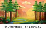 peaceful forest. video game's...   Shutterstock . vector #541504162