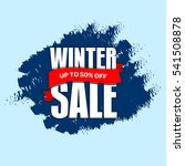 winter sale badge  label  promo ... | Shutterstock .eps vector #541508878