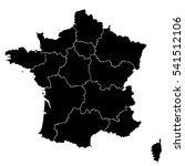 black map of france | Shutterstock .eps vector #541512106