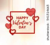 happy valentine's day pink card.... | Shutterstock .eps vector #541514665