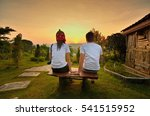 couple in love back light... | Shutterstock . vector #541515952