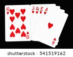 Poker Card Game With 10  J  Q...