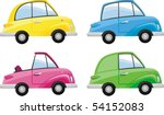 old cars | Shutterstock .eps vector #54152083