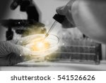 scientist with equipment and... | Shutterstock . vector #541526626