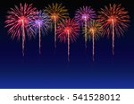 colorful fireworks celebration... | Shutterstock . vector #541528012