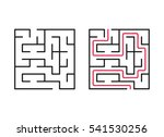 vector labyrinth. maze  ... | Shutterstock .eps vector #541530256