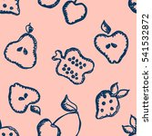 seamless raster pattern with... | Shutterstock . vector #541532872