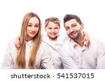 portrait of family on white... | Shutterstock . vector #541537015