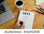2017's resolutions on the... | Shutterstock . vector #541542538