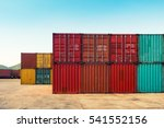 an area yard of cargo container ... | Shutterstock . vector #541552156