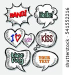 set of  bubble speech with... | Shutterstock .eps vector #541552216