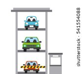parked cars in a parking... | Shutterstock .eps vector #541554088