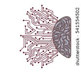 hemisphere with human brain... | Shutterstock .eps vector #541554502