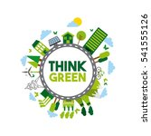 think green and ecology icons... | Shutterstock .eps vector #541555126