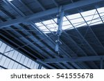 industry ceiling in cyanotype... | Shutterstock . vector #541555678