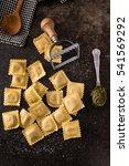 fresh ravioli | Shutterstock . vector #541569292