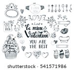 set with romantic element of... | Shutterstock .eps vector #541571986