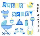 baby boy shower object clip art   Shutterstock .eps vector #541572232